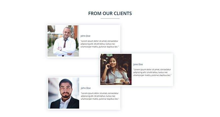 Elementor testimonial layout 2