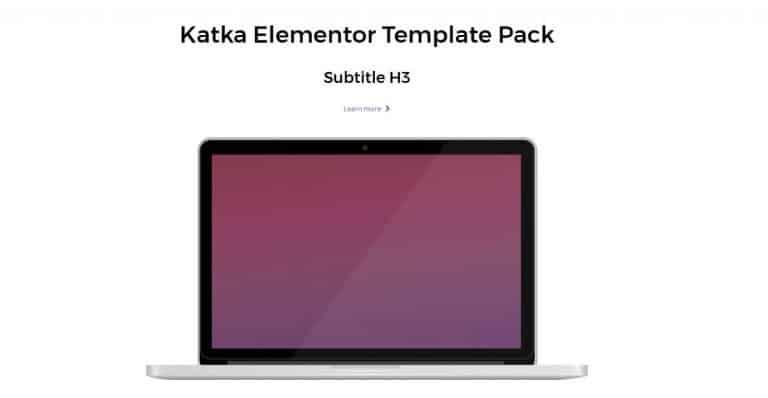 elementor content template 8