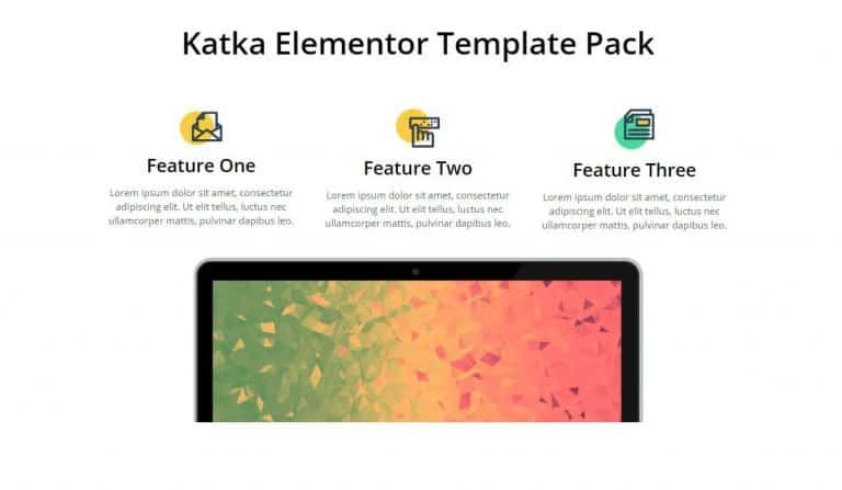 elementor features section template 11