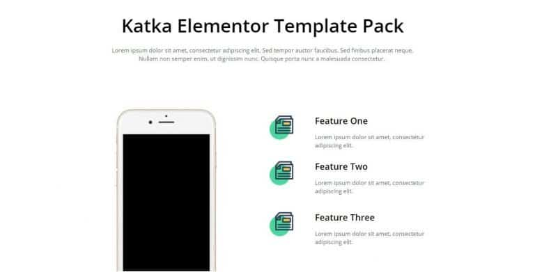 elementor features section template 15