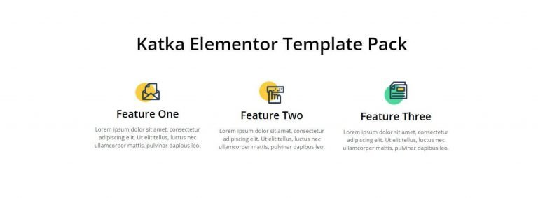 elementor features section template 8