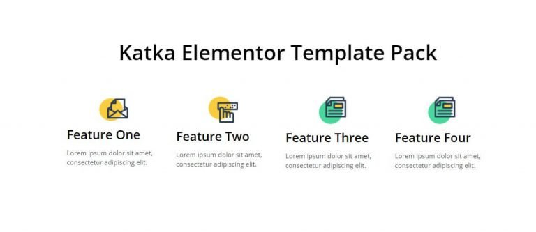 elementor features section template 9