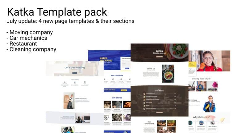 Katka Elementor Template Pack 1.4 update