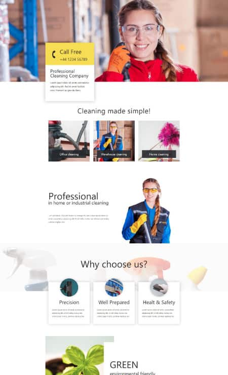 Katka Cleaner - Elementor Landing page template
