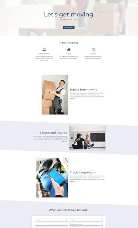 Katka Moving - Elementor Landing page template