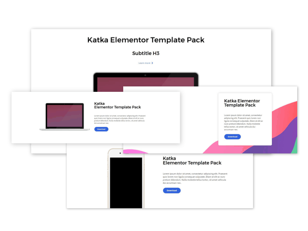 content elementor sections