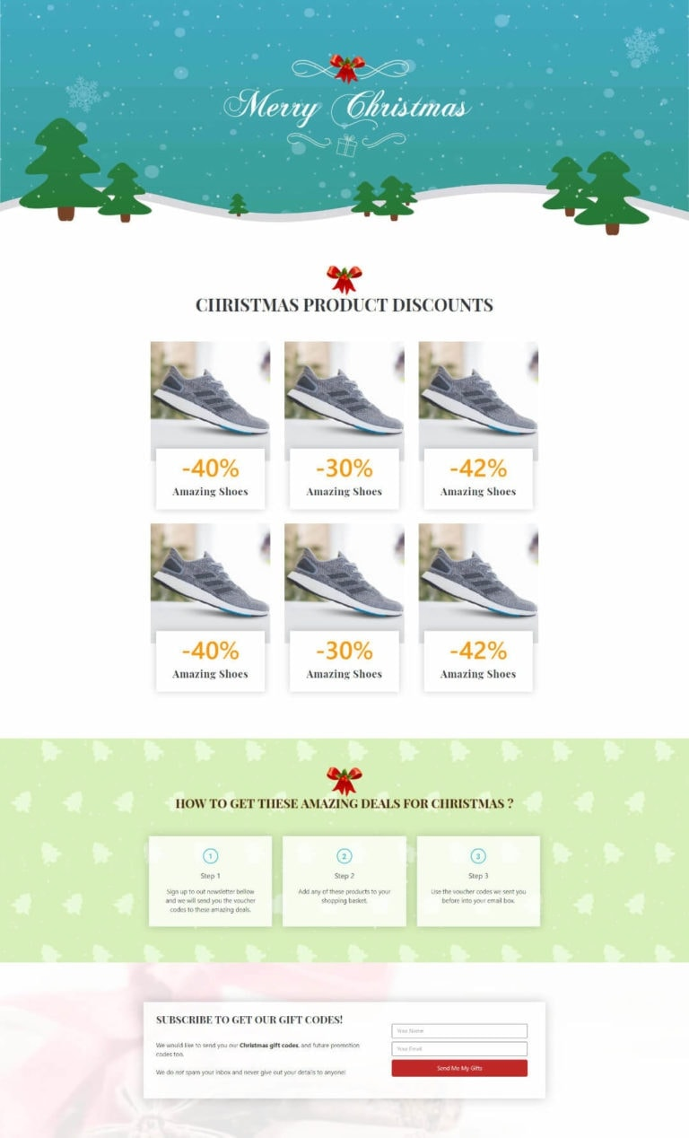 Katka - Elementor Christmas promo landing page with snow effect
