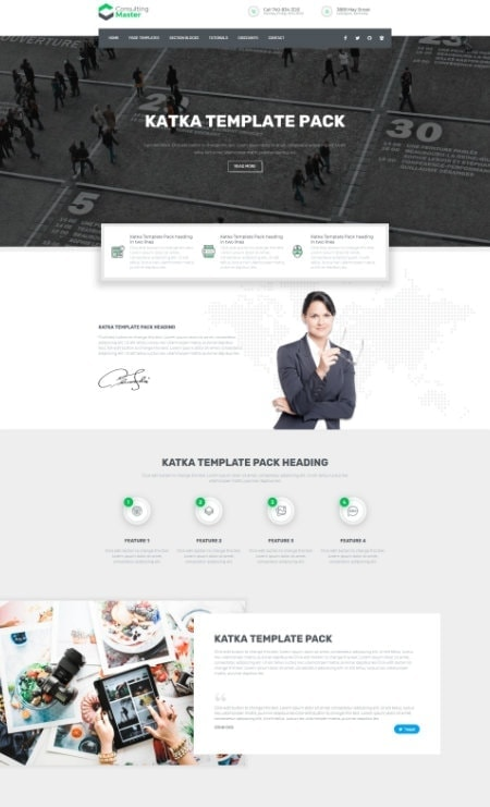 Katka Elementor Business Consultant Landing Page