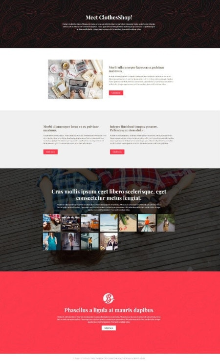 Katka Fashion Shop - Elementor About Us page template