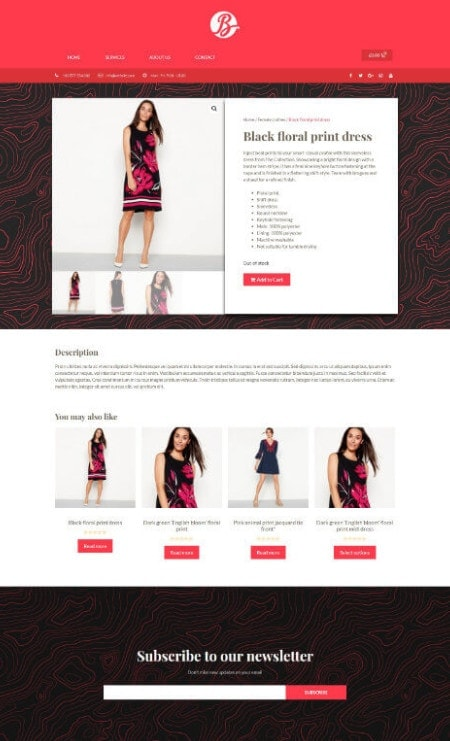 Katka Fashion Shop - Elementor single product page template