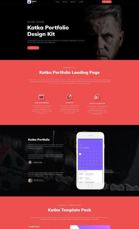 Katka Portfolio Elementor page template
