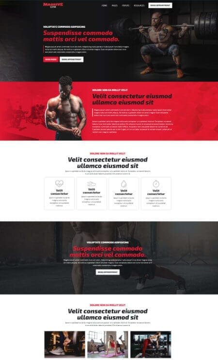 Katka Pro Fitness - Landing page