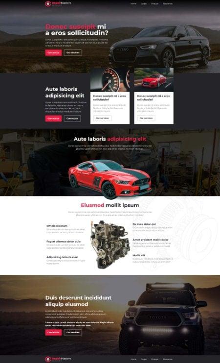 Katka Pro Mechanic - Landing page