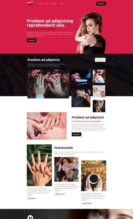 Katka Pro Nail salon - Landing page template