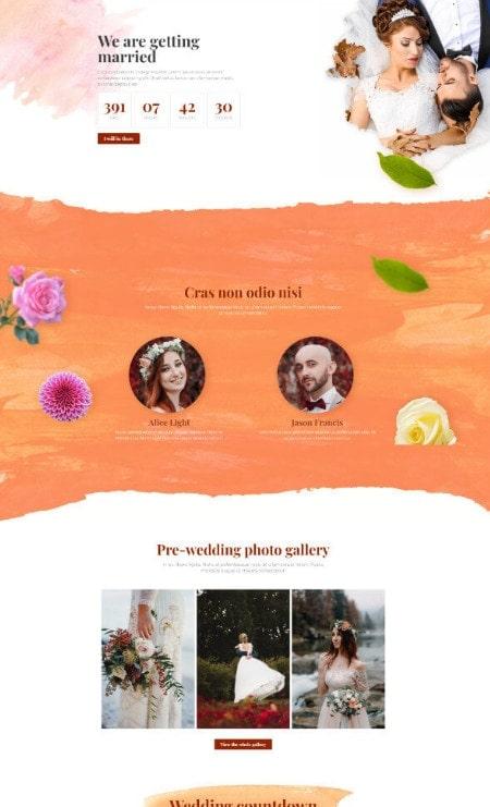 Katka-Pro - Wedding Elementor Landing page template