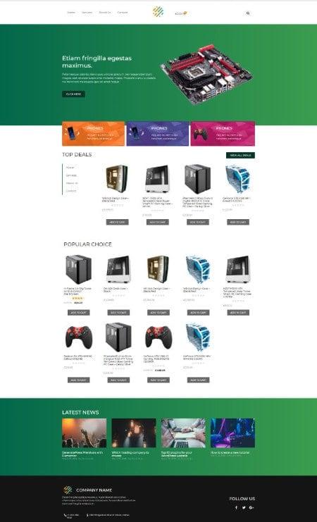 Katka Pro WooCommerce Electronics shop - Elementor Shop front page template