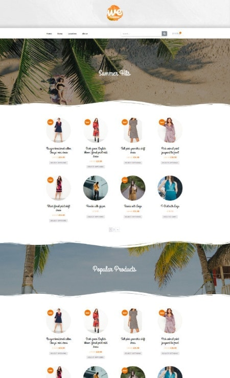 Katka Pro WooCommerce Fashion Summer Edition - Elementor Shop front page template