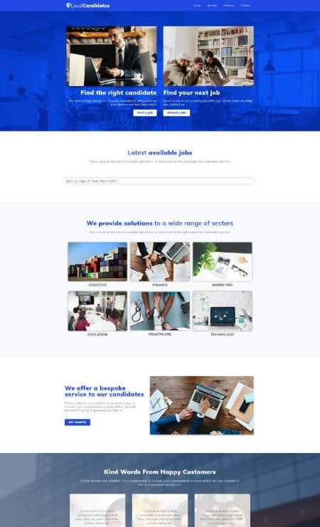 Katka-Recruitment-Elementor Landing-page-template