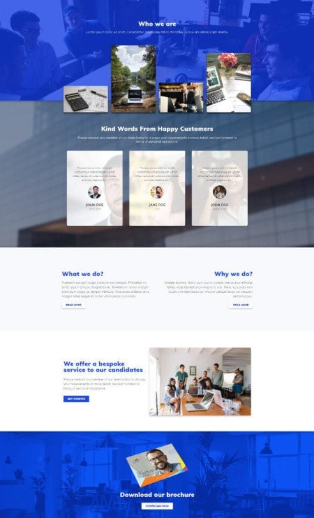 Katka-Recruitment-Our-services-Elementor page-template