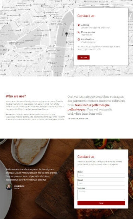 Katka Woo Food Takeaway - Elementor Contact Us page template