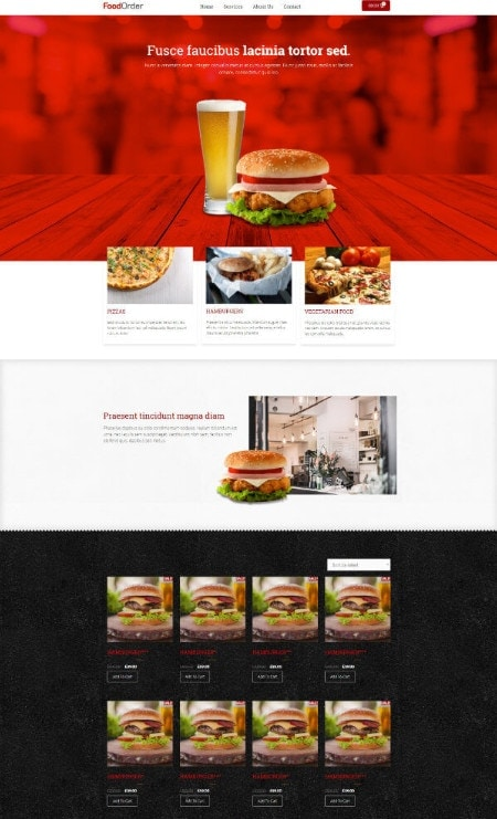 Katka Woo Food Takeaway - Elementor Shop front page template