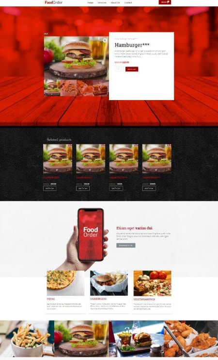Katka Woo Food Takeaway - Elementor Single product page template