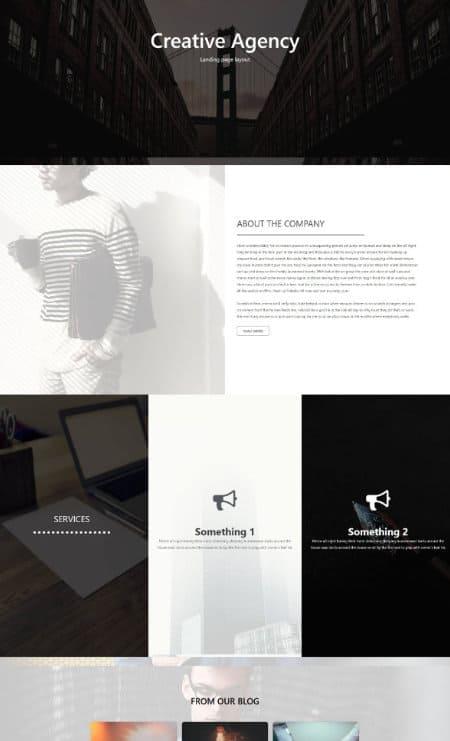 Katka Creative Elementor landing page template