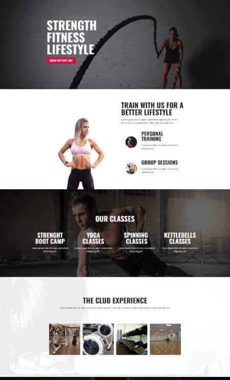 Katka Fitness Elementor Landing page template