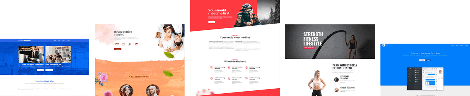 Elementor page templates