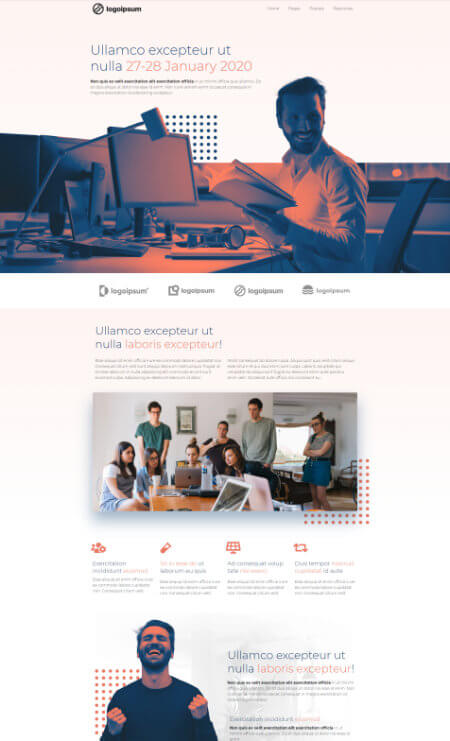 Katka Pro Workshop - Landing page