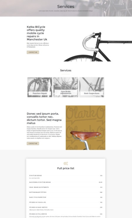 Katka Bicycle - Services