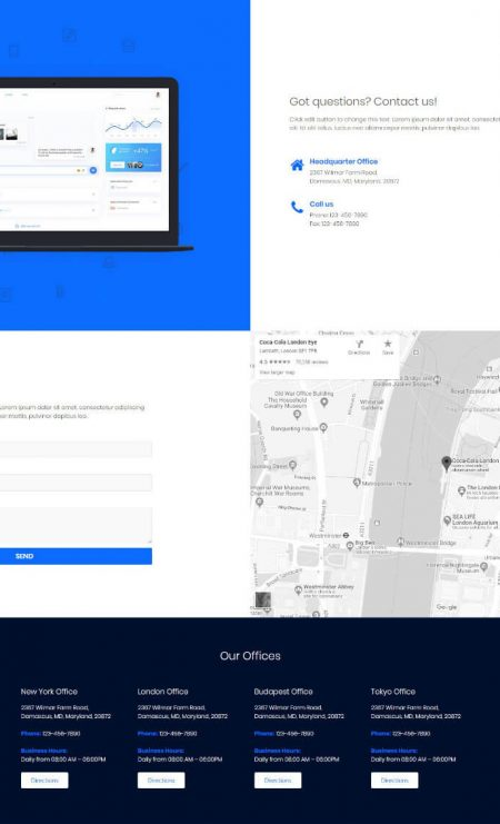 Katka App Landing Page Template - Contact us