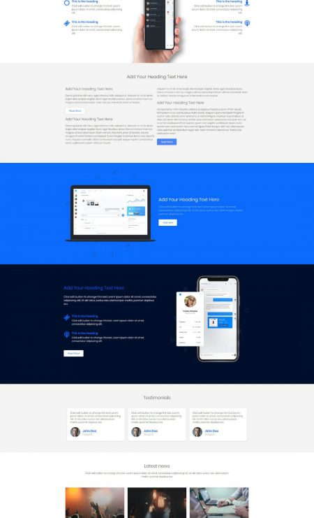 Katka App Landing Page Template - Features