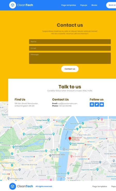 Katka Cleaner 2 - Contact page