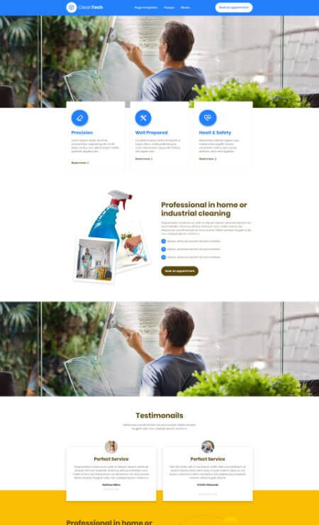 Katka Cleaner 2 - Services page