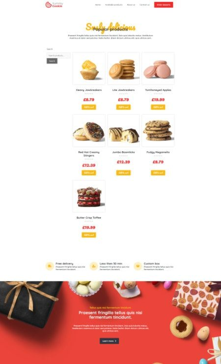 Katka Cookie shop - product archive