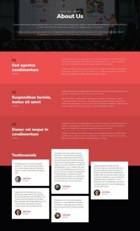 Katka Portfolio Elementor page template - About Us
