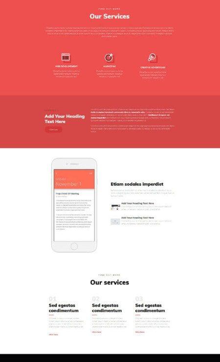 Katka Portfolio Elementor page template - Our services