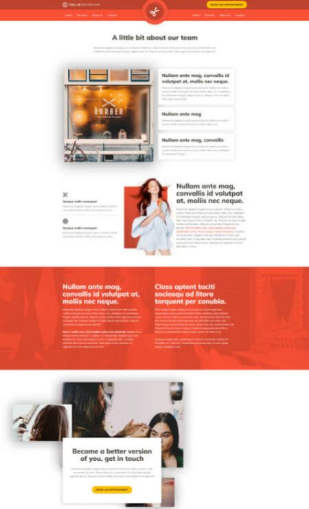 Katka Pro Hairdresser beauty - About Us page template