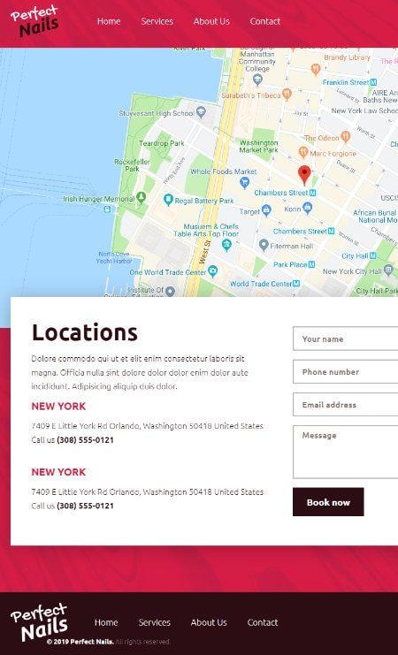 Katka Pro Nail salon - Contact page template