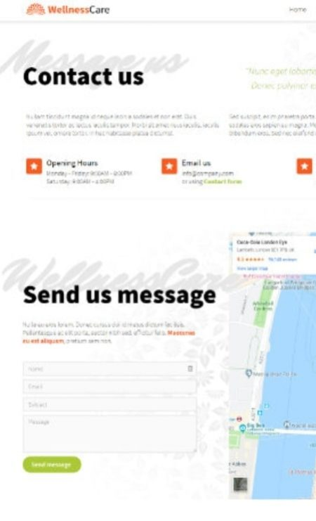 Katka Pro Wellness - Contact Us Elementor page template