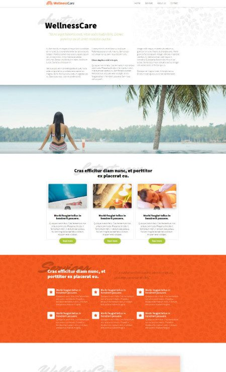 Katka Pro Wellness - Services Elementor page template