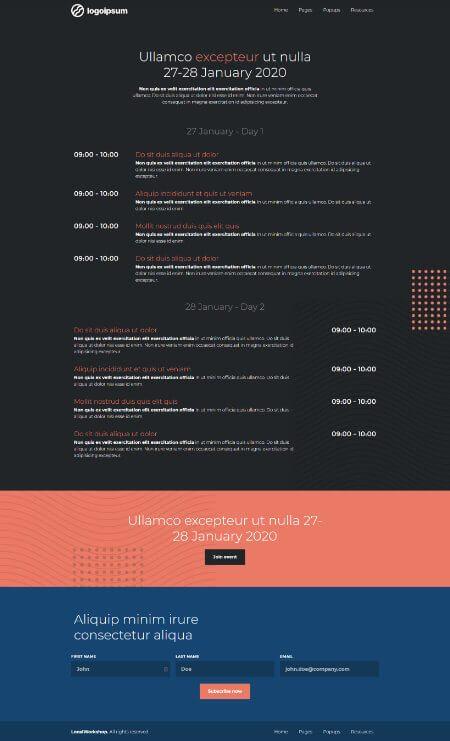 Katka Pro Workshop - Timetable