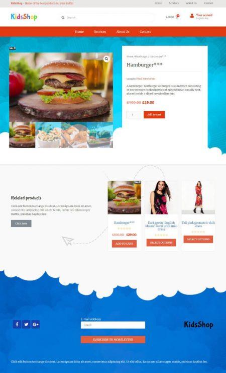 Katka WooCommerce Kids shop - Product page