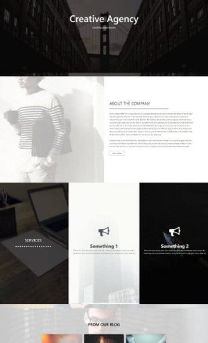 elementor creative page template