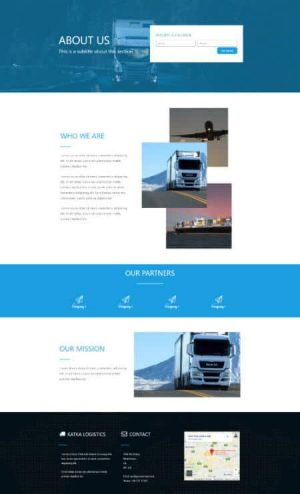 elementor logistics about us 1 page template