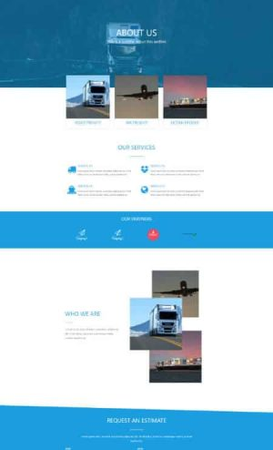 elementor logistics about us 2 page template