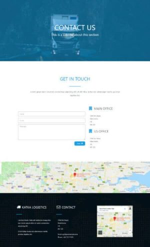 elementor logistics contact us page template