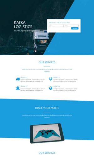 elementor logistics home page template